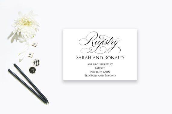 Printable Wedding Gift Registry Card Wedding Registry Card Template Printable E Wedding Gift Registry Cards Card Templates Printable Wedding Registry Cards