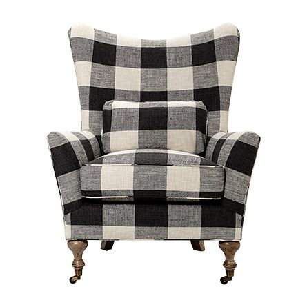 Buffalo Check for old yellow chair?  Shop the Rio Chair in Check Please Thunder at Arhaus.