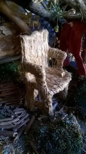Miniatur Sessel handgemacht Puppenhaus Maerchenwald von minis4you