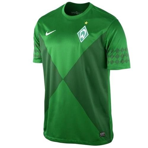 Soccer Jersey Werder Bremen 2012/13 Home versionsigned Nike100% polyester Dri-Fit fabricGreen color