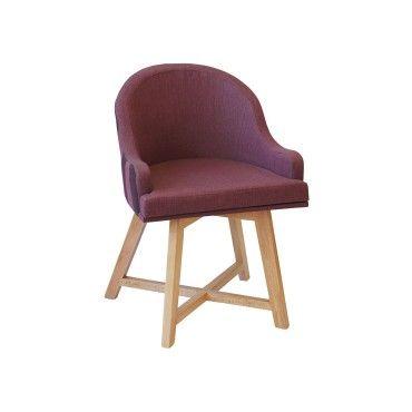 Πολυθρόνα 0290. Πολυθρόνα με ξύλινο σκελετό από φουρνιστή οξιά, σε χρώμα βαφής και χρώμα υφάσματος-δερματίνης επιλογής σας. Κατάλληλη για καφετέριες, μπαρ, ξενοδοχεία.