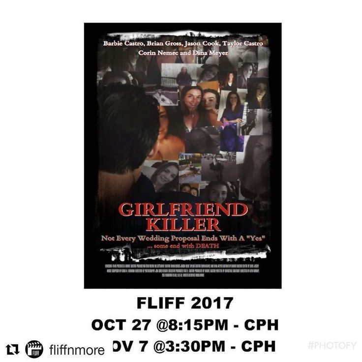 Credit to #fliffnmore  GIRLFRIEND KILLER  Filmed In Broward 2017 Best Feature Friday Oct 27 8:15pm at Cinema Paradiso Hollywood Tuesday Nov 7 3:30pm at Cinema Paradiso Hollywood  A business woman who creates the perfect marriage proposals for wealthy men becomes the target of a crazy clients obsession when she shows him compassion after his girlfriend publicly rejects him.  Writer: Christine Conradt; Composer: Chad Rehmann; Camera: Jon Schellenger; Editor: Greg Jocoy / Cast: Barbie Castro…