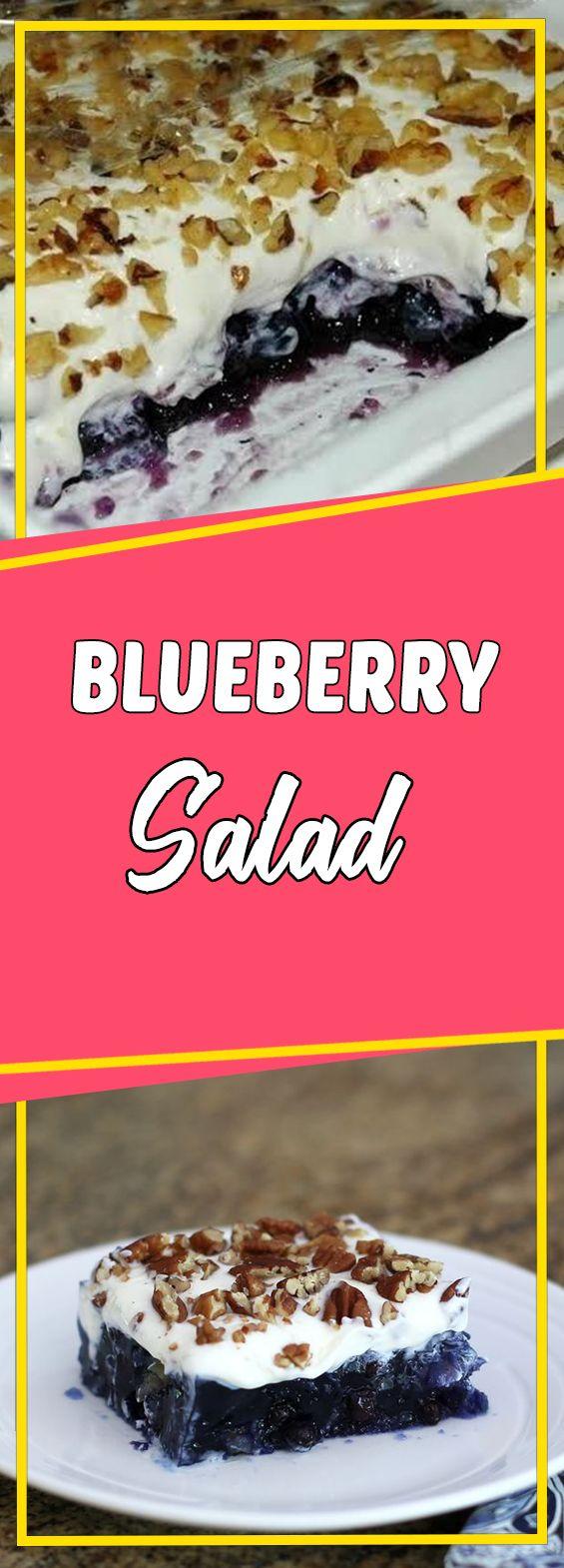 Blueberry Salad #appetizer #recipeoftheday #sundaysupper #dessert #dessertrecipes #desserttable