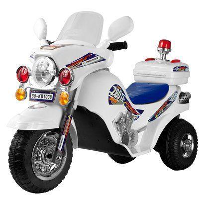 Lil Rider White Lightning Police Cruiser