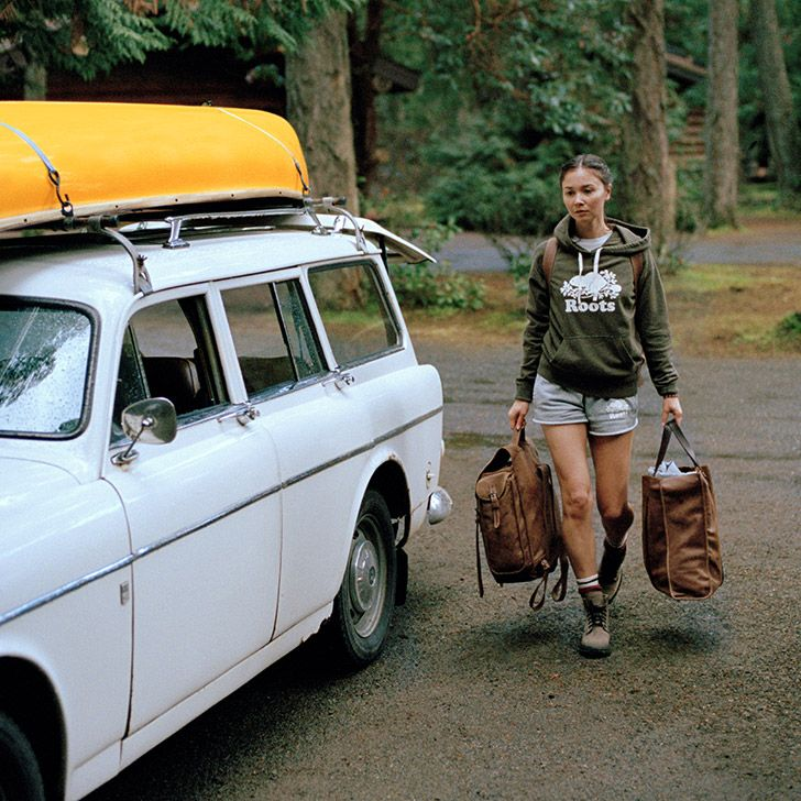 cute camping ensemble by Roots Canada