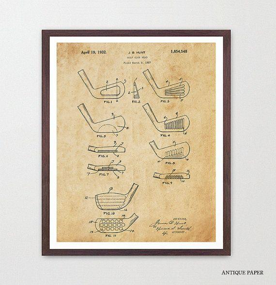 Golf Poster - Golf Art - Golf Club Poster - Golf Wall Art - Historical Golf Poster - Patent Print - Patent Poster - Golf Lover - Golf Clubs