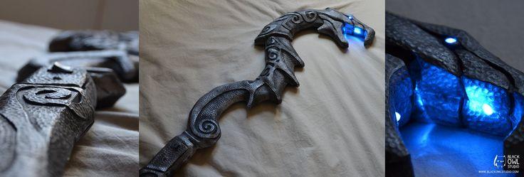 Skyrim : Dragon Priest Staff by BlackOwlStudio on deviantART