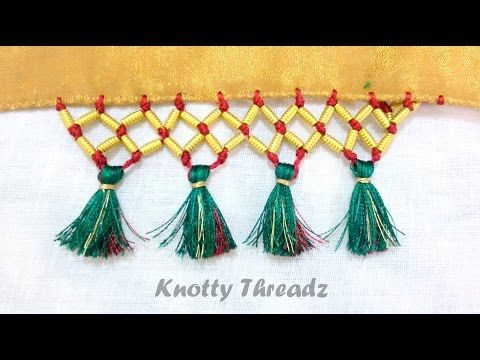 Crochet | Kuchu | How to do Krosha Saree Kuchu with Beads - YouTube