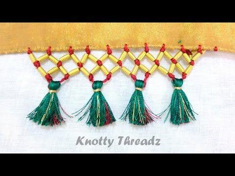 tassels for saree pallu - YouTube