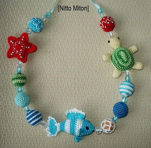crochet motif necklace