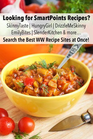 Weight Watchers recipe search custom results from all the best recipes blogs - skinnytaste, slenderkitchen, emilybites, drizzle me skinny, eat yourself skinny, skinnykitchen and more