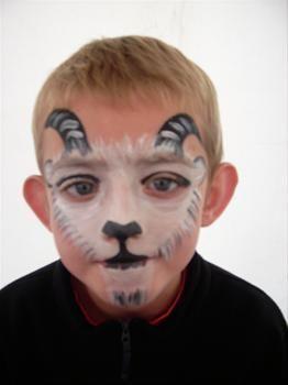 goat face paint design | Goat Face Billy goat face painting