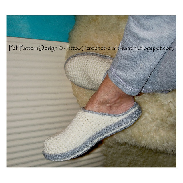 Knitting Pattern For Slippers With Soles : 10 Best ideas about Crochet Sole on Pinterest Crochet baby booties, Crochet...