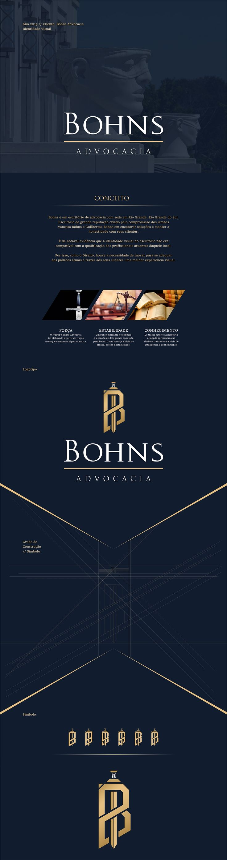 Bohns Advocacia // Branding on Behance