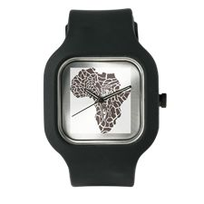 Africa in a giraffe camouflage Watch