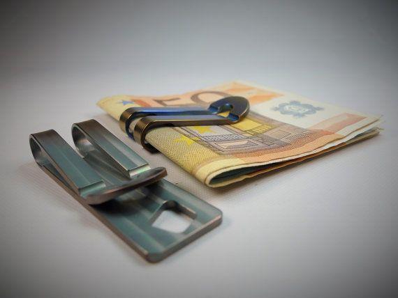 Money Clip Titanium / Petrol