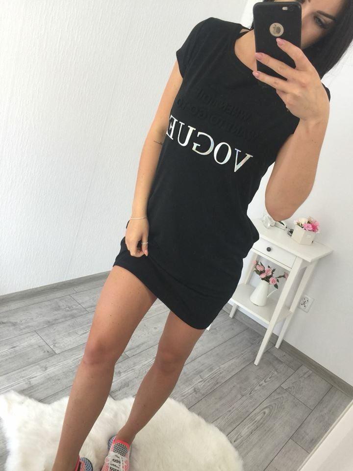 b79236a7297b Dámske športové šaty čierne Vogue