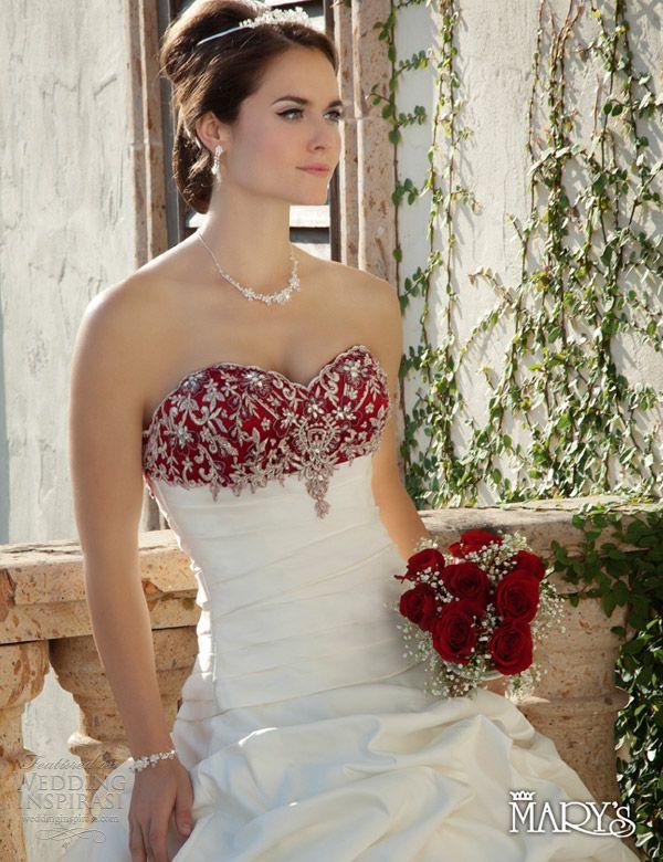 Burgundy Informal Wedding Dresses