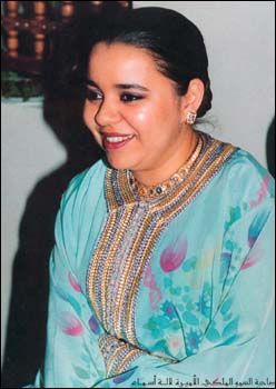 Her Royal Highness Princess Lalla Asma of Morocco.  Lalla Asma, born 1965, is the second daughter and third eldest child of Hassan II of Morocco and his wife Lalla Latifa Hammou. She is sister to king Mohammed VI.