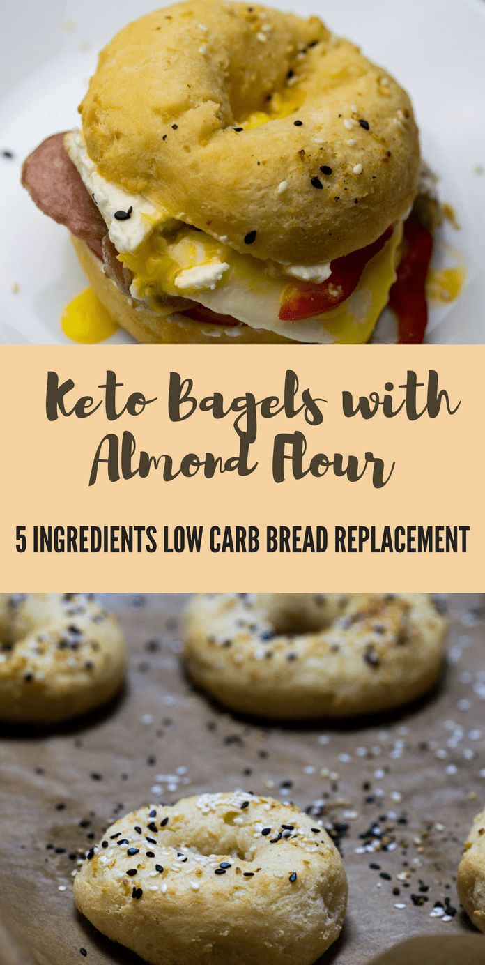 keto bagels with Almond flour 5 ingredient low carb bread replacement