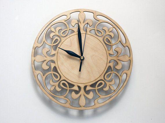 #design, #artnouveau #homedecor #wallclock Art Nouveau Wall Clock WOOD WALL CLOCK Art deco home by PilipArt