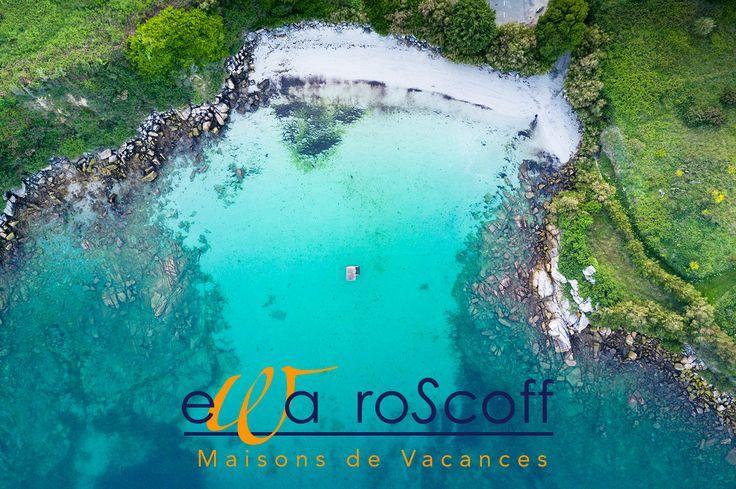 Photo sans trucage de la plage du Traon Erch à 100m des villas à #Roscoff Le paradis et la piscine à 30° vous attendent pour le week-end de la pentecôte et les vacances d'été ! http://www.villa-vacances-bretagne.fr/villas-bretagne-roscoff/plage-traon-erch.html