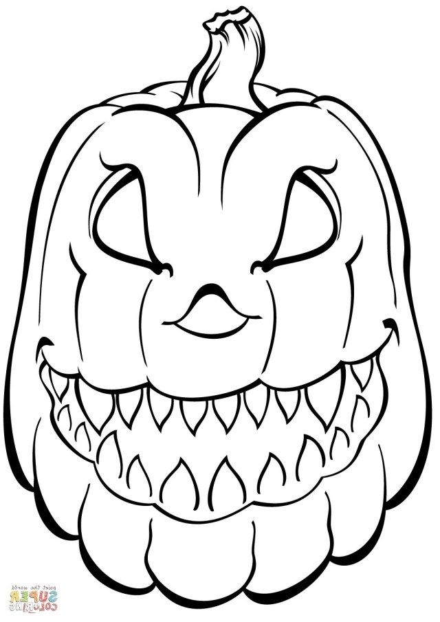 Pumpkin Coloring Page • FREE Printable PDF from PrimaryGames | 905x640