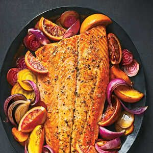 Roasted Salmon with Oranges, Beets, and Carrots Recipe - Cooking Light