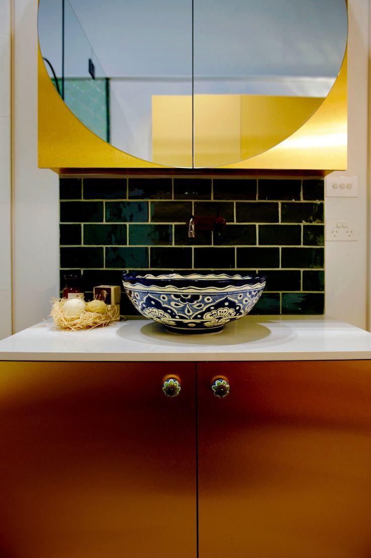 Shaynna Blaze's Bold Bathroom Using Our Metal | That Metal Company