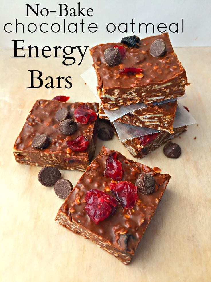 No Bake Chocolate Oatmeal Energy Bars Recipe Bake Bar