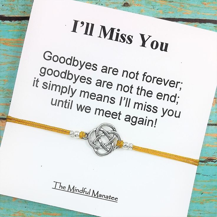 Going Away Gift by TheMindfulManatee on Etsy