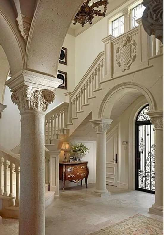 Entrance Foyer Circulation And Balcony In A House : Arches home idea s pinterest arch staircases and foyers