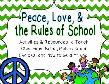 Kick off your year on a peaceful note with this unit of activities about rules, making good choices, and being a good friend!  This is perfect to implement during the beginning of the school year, but could be used for reinforcement year-round. It teaches, celebrates, and reinforces respect, kindness, peace, and friendship! :) Printable activities are included, as well as resources you can use year-round such as tickets and award certificates!Included:*___________ Can Follow the Rules Book.