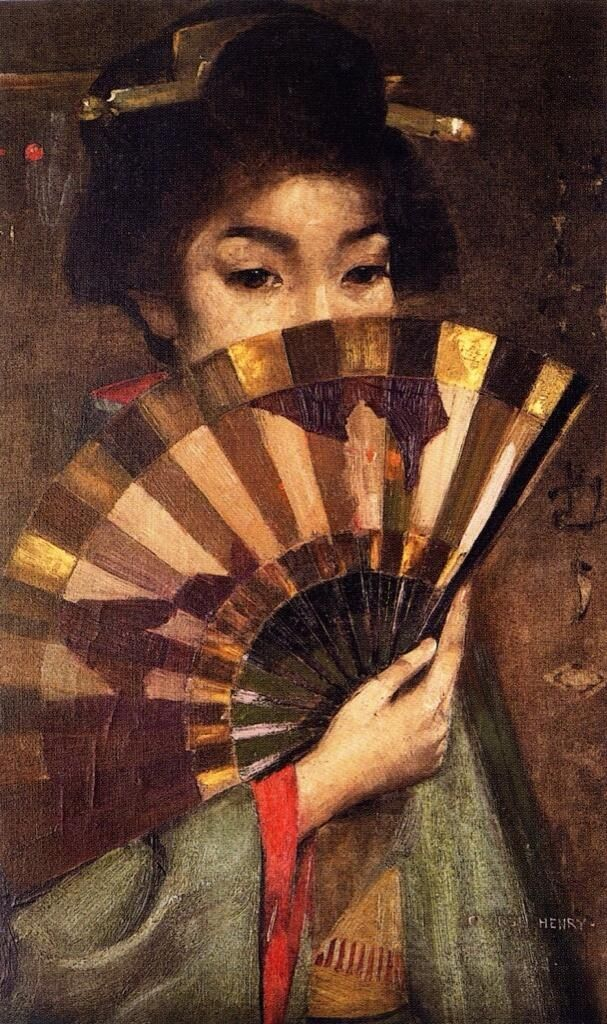 ☂ Paper Lanterns and Parasols ☂ Japonisme Art and Illustration - Geisha Girl, c1894 | George Henry