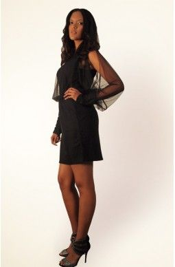 Open Shoulder Meshed Dress - $85, Free Shipping all over Australia