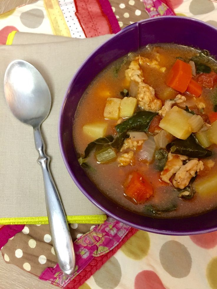 Hearty chicken sausage winter vegetable stew for the perfect cold night! #paleo #whole30 #whole30recipes #soup