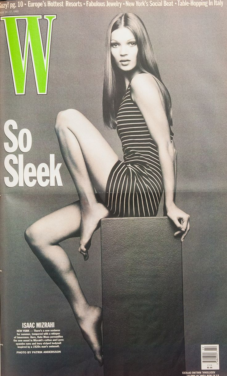 W Magazine's Supermodel Cover Girls - Kate Moss on the cover of W Magazine May 1993