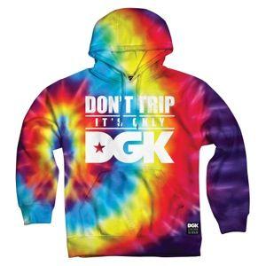 DGK Don't Trip Tie Dye Pullover Sweatshirt - Men's