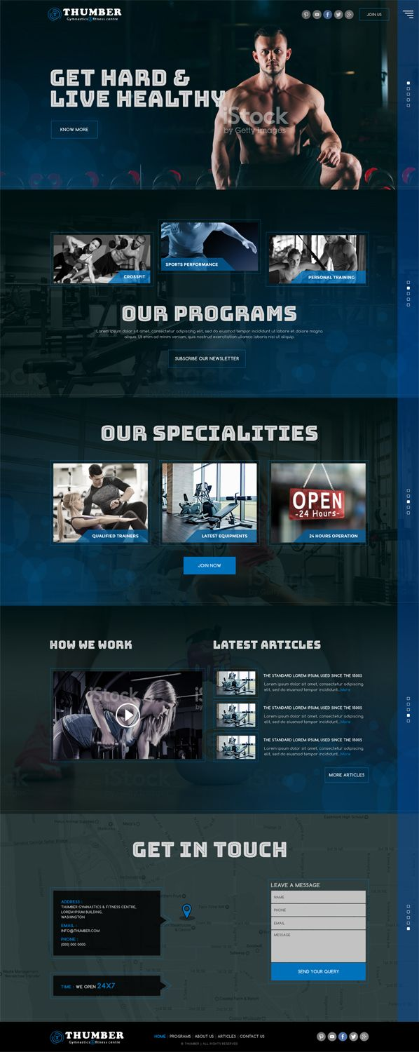 Web Design by sirindesigner for Gymnastics and fitness web design - Design #13795580