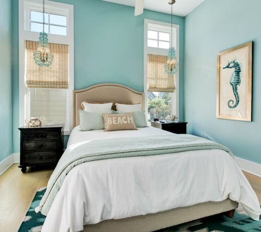 224 best coastal bedrooms ideas images on pinterest for Turquoise bedroom decor
