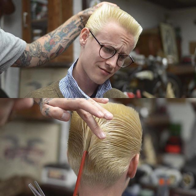#FlattopFriday  Compilation Repost @headbusters @im.savin @themadnezz @repostapp ・・・  Duck's ass style  with a Flattop #headbusters #barbershop #flattop #reuzel #reuzelgreen #barberlife #russia #spb #ducksass #rockabilly #rockabillyhair #inthebarberchair #freshhaircut #menshaircut #menscut #tattooedbarber #russianbarbers #barber #barbershop #flattopboogie #flattopwithfenders #porkchopoftheday #haircutinprogress