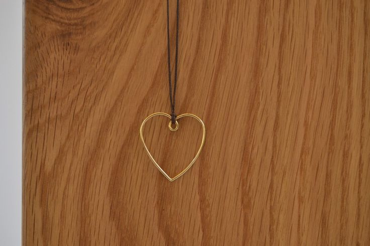 Gold Heart Pendant Necklace Solid 18k Gold heart made in Greece delicate gold heart gold wire heart dainty heart pendant modern gold heart by ViazisJewelry on Etsy