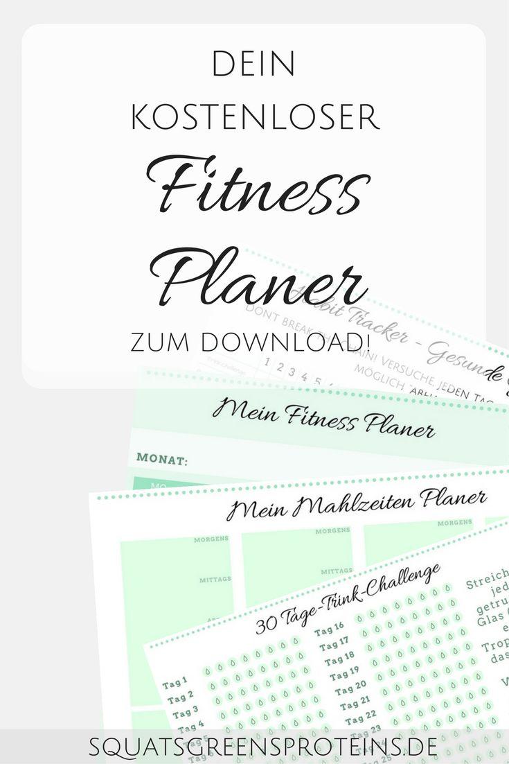 Dein kostenloser Fitness Planer zum Download - Squats, Greens & Proteins