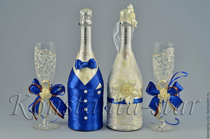 Купить Свадебные аксессуары в сине-шоколадном цвете - тёмно-синий, сине-шоколадная свадьба
