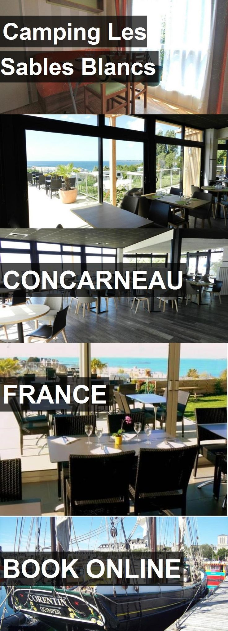 Hotel Camping Les Sables Blancs in Concarneau, France. For more information, photos, reviews and best prices please follow the link. #France #Concarneau #travel #vacation #hotel
