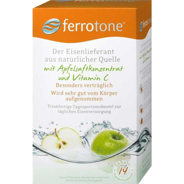 FERROTONE Eisen m.Apfelkonzentrat u.Vitamin C Beutel:   Packungsinhalt: 14X25 ml Beutel PZN: 10399670 Hersteller: Nelsons GmbH Preis:…