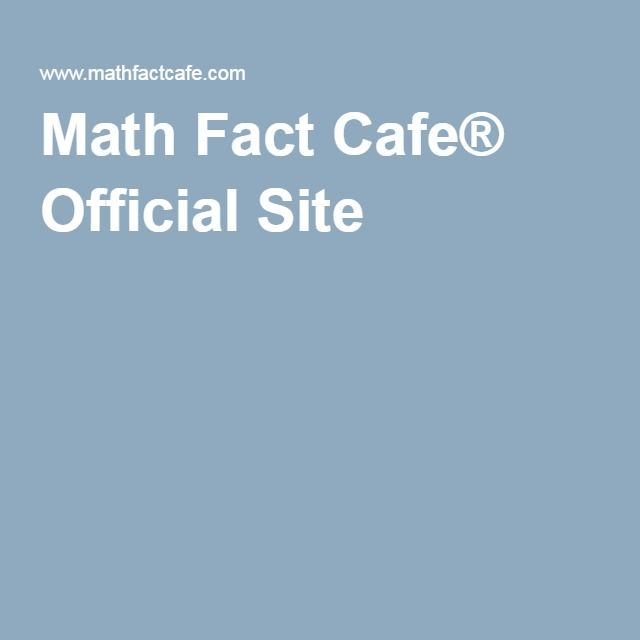 Math Fact Cafe® Official Site