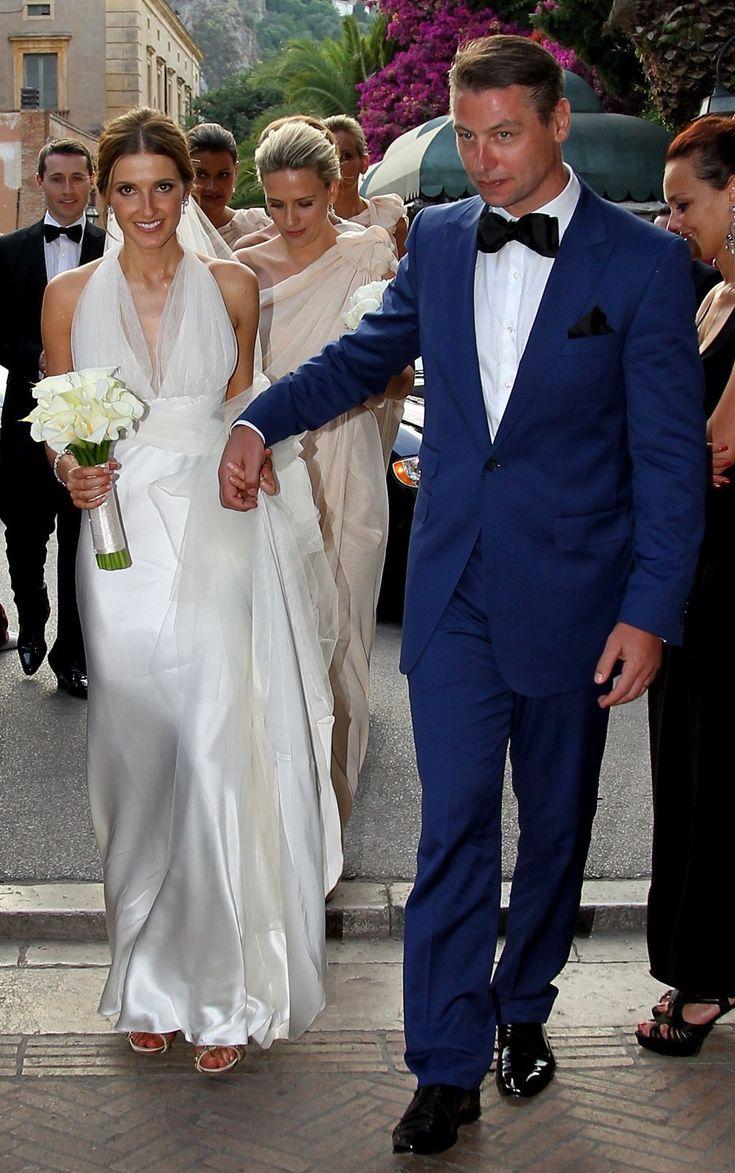 Blue suit in Sicily - Kate Waterhouse and Luke Rickertson wedding.