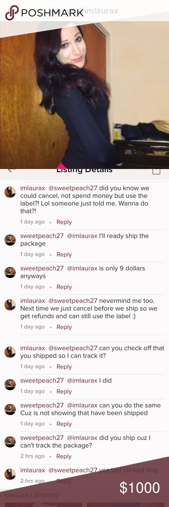 Scammer scammer !✅description for info This seller agree to a trade with me and never sent my items she says she has shipped yet sends no tracking # then blocks me after I sent the items scammer. Good thing I call to the post office and intercept the package and they will send it back to me I pay $12 I'm so lucky. Love to do trades  cuz I'm honest person but we all have to be carefull with this kind of people !! lululemon athletica Pants Leggings