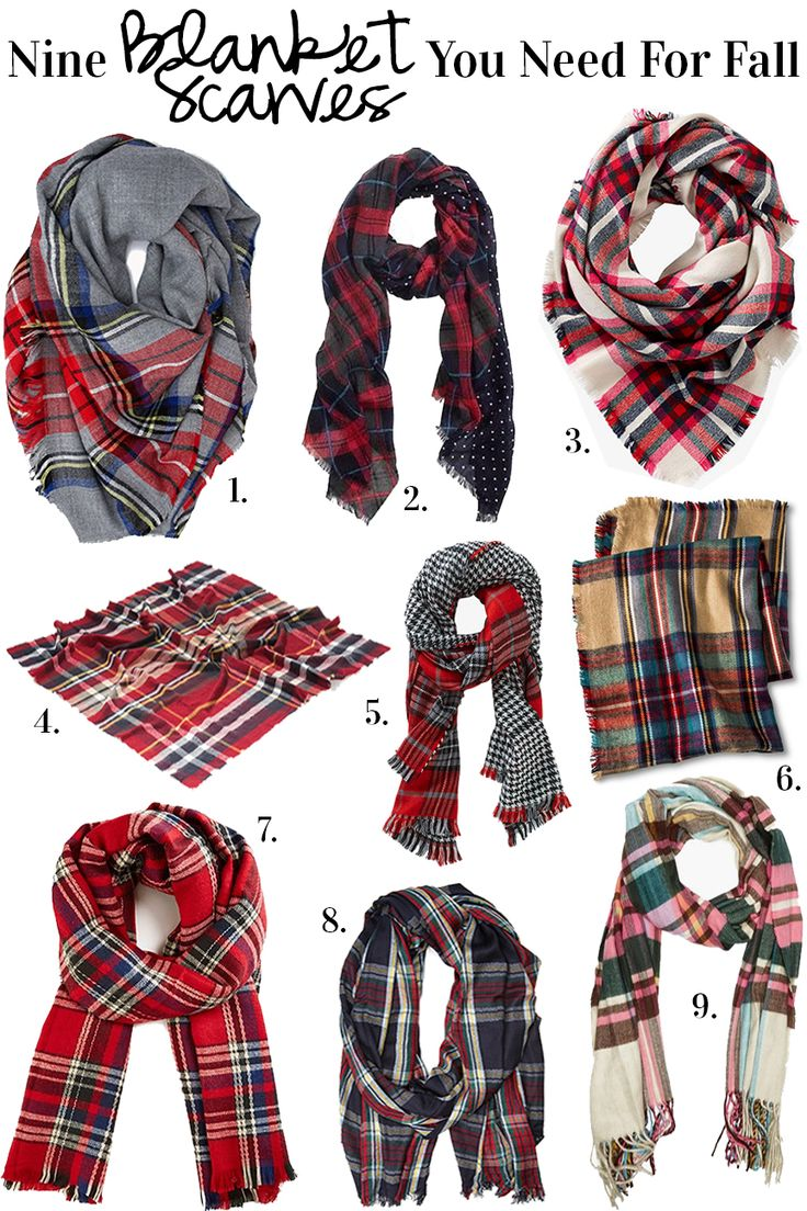 Nine Blanket Scarves You Need For Fall